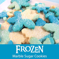 Frozen Marble Sugar Cookies