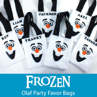 Frozen Olaf Party Favor Bags