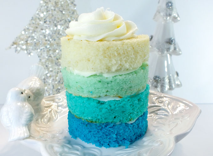 Frozen Ombre Mini Cakes Two Sisters