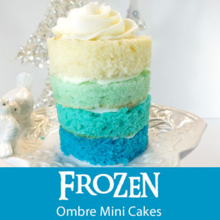 Frozen Ombre Mini Cakes