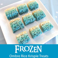 Frozen Ombre Rice Krispie Treats
