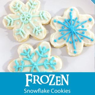 Disney Frozen Snowflake Cookies