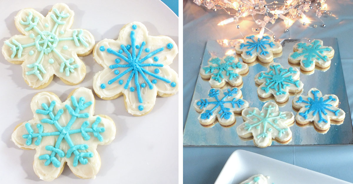 Disney Frozen Snowflake Cookies Two Sisters