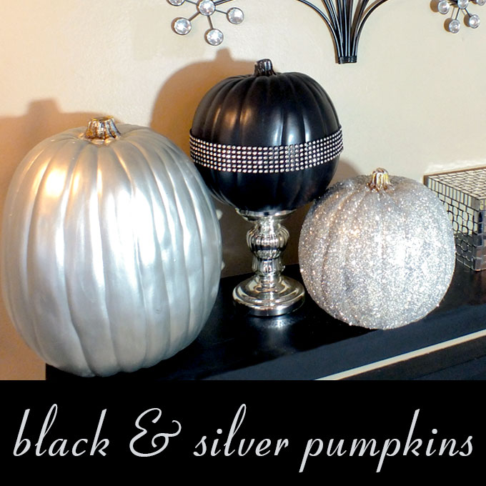 Black And Silver Pumpkins Two Sisters