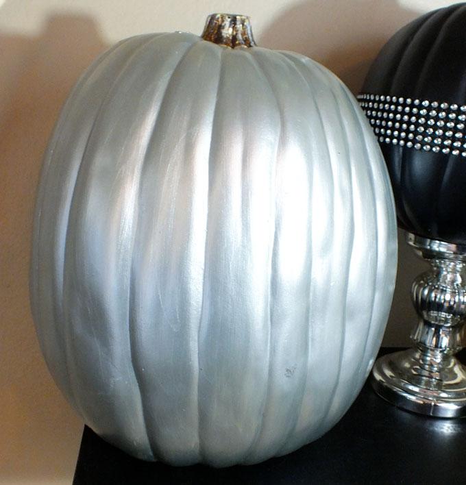 Metallic Painted Pumpkins