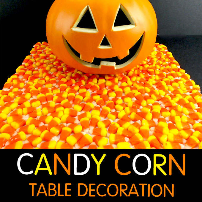 Candy Corn Halloween Table Decoration Two Sisters