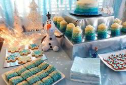 Disney Frozen Party Dessert Table