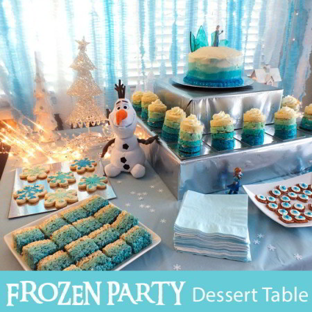 Disney Frozen Dessert Table