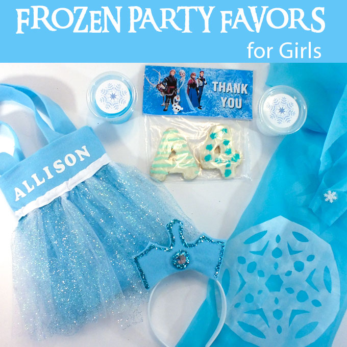 Frozen Party Favors For Girls Two Sisters Crafting