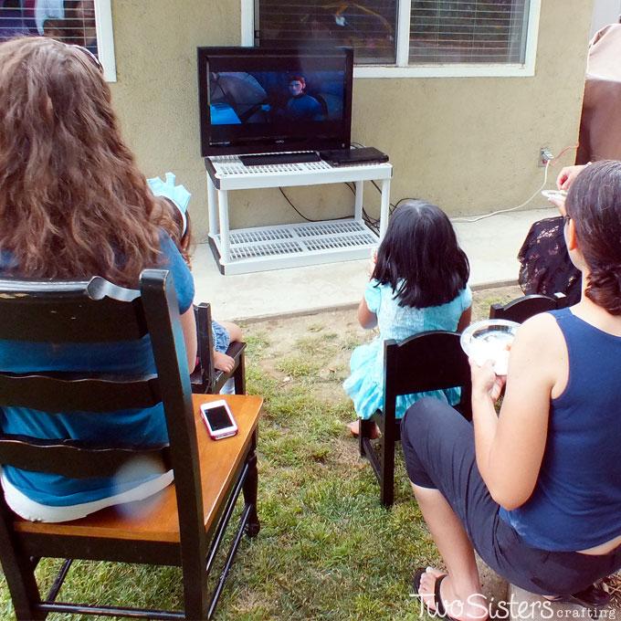Disney Frozen Movie Watching Station