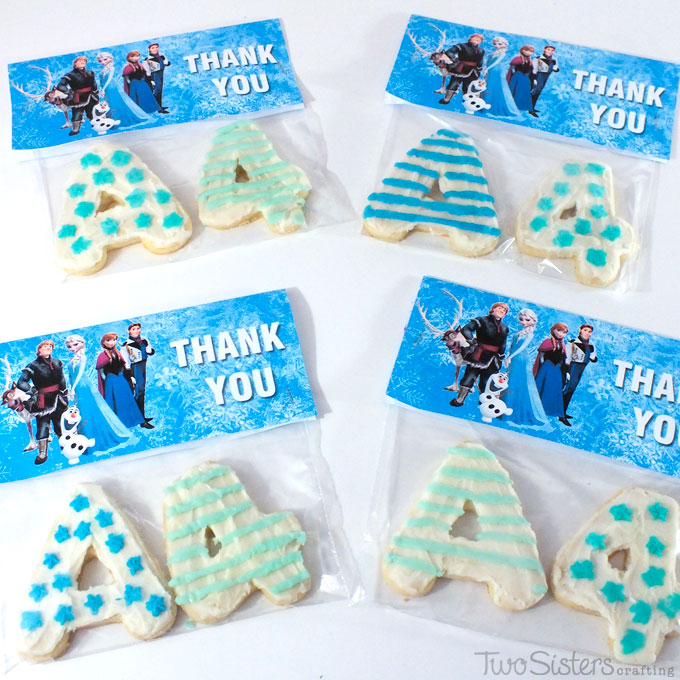 Disney Frozen Birthday Party Thank You Cookies