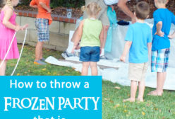 How to throw a Frozen Party that is fun for BOYS too!