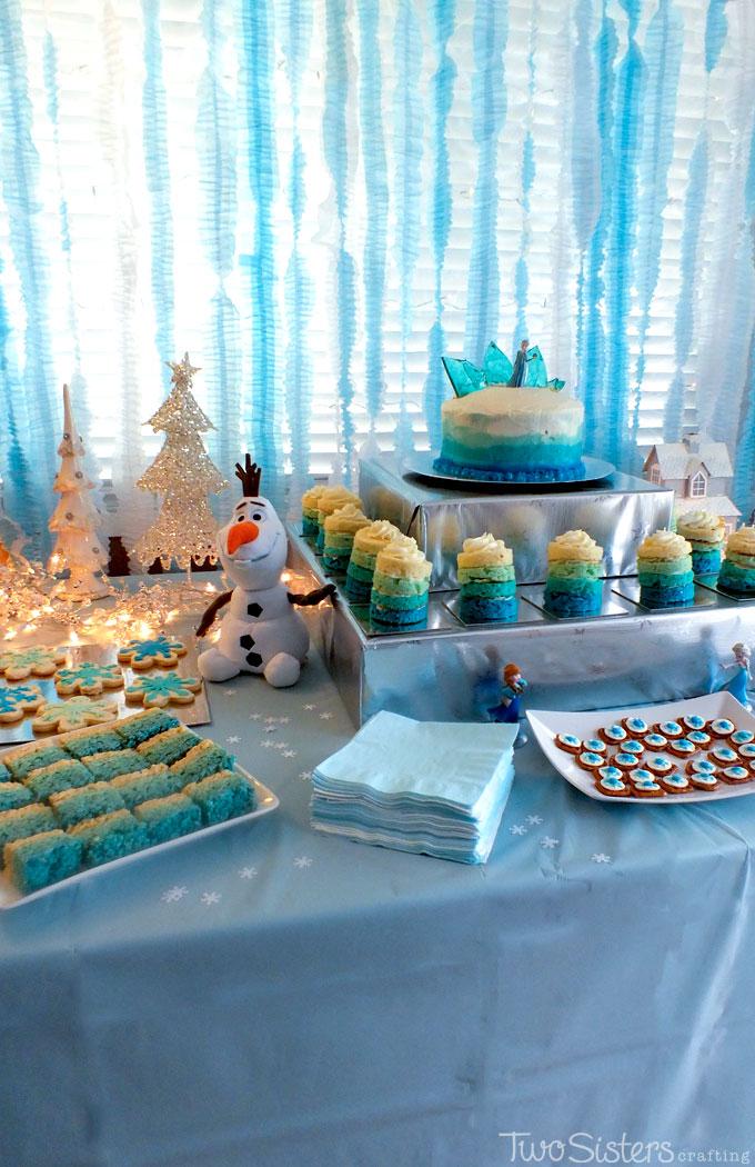 Disney Frozen Dessert Table Two Sisters