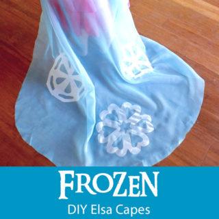 Disney Frozen DIY Elsa Capes