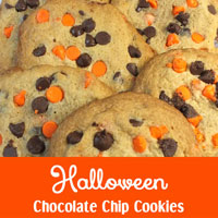 Halloween Chocolate Chip Cookies