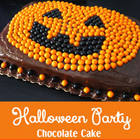 Halloween Party Chocolate Cake