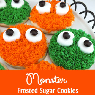 Monster Frosted Sugar Cookies