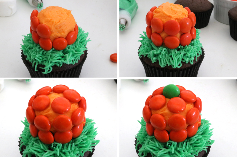 How to make Pumpkin Patch Cupcakes