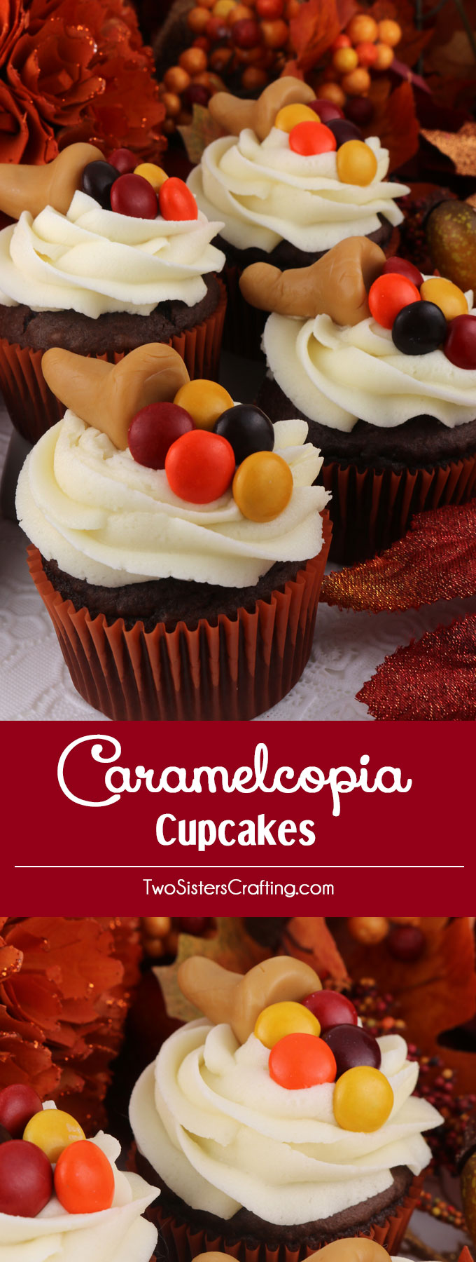 Thanksgiving cupcake decorations - Thanksgiving Caramelcopia Cupcakes These Super Cute Thanksgiving Cupcakes Are So Easy To Make And Will