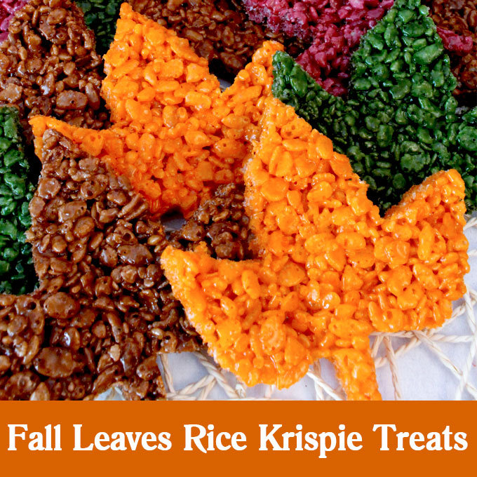Fall Leaves Rice Krispie Treats Two Sisters Crafting