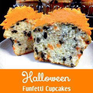 Halloween Funfetti Cupcakes