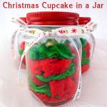 Christmas Cupcake in a Jar