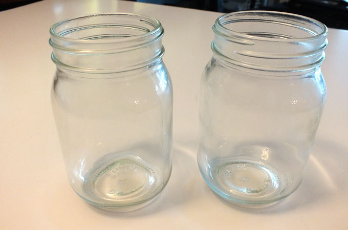 Mason Jars for our Christmas Cupcake in a Jar