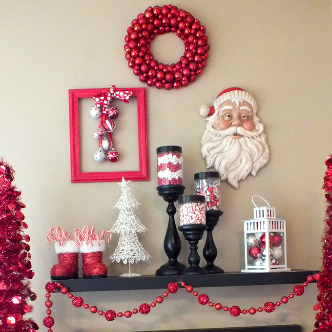 christmas decorations on the mantle - How To Decorate Small Room For Christmas