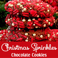 Christmas Sprinkles Chocolate Cookies