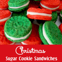 Christmas Sugar Cookie Sandwiches