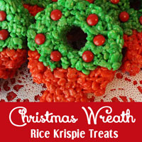 Christmas Wreath Rice Krispie Treats