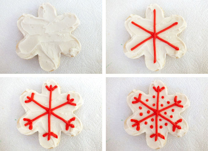 How to make a Frosted Snowflake Christmas Cookie - Decorating Christmas Cookies - Two Sisters