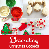 Decorating Christmas Cookies