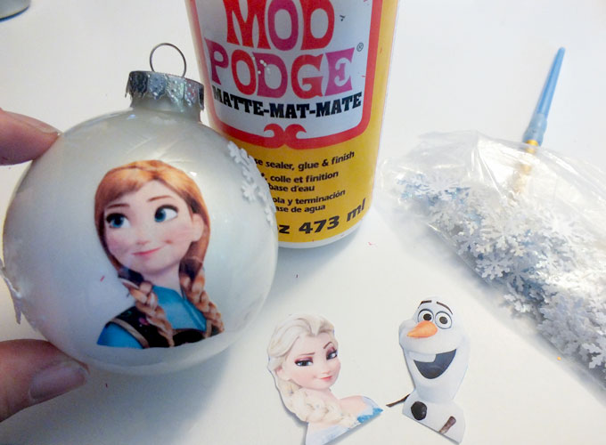embellishing the anna christmas ornament - Elsa Christmas Decoration