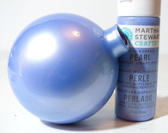 making christmas ornaments with clear balls on body