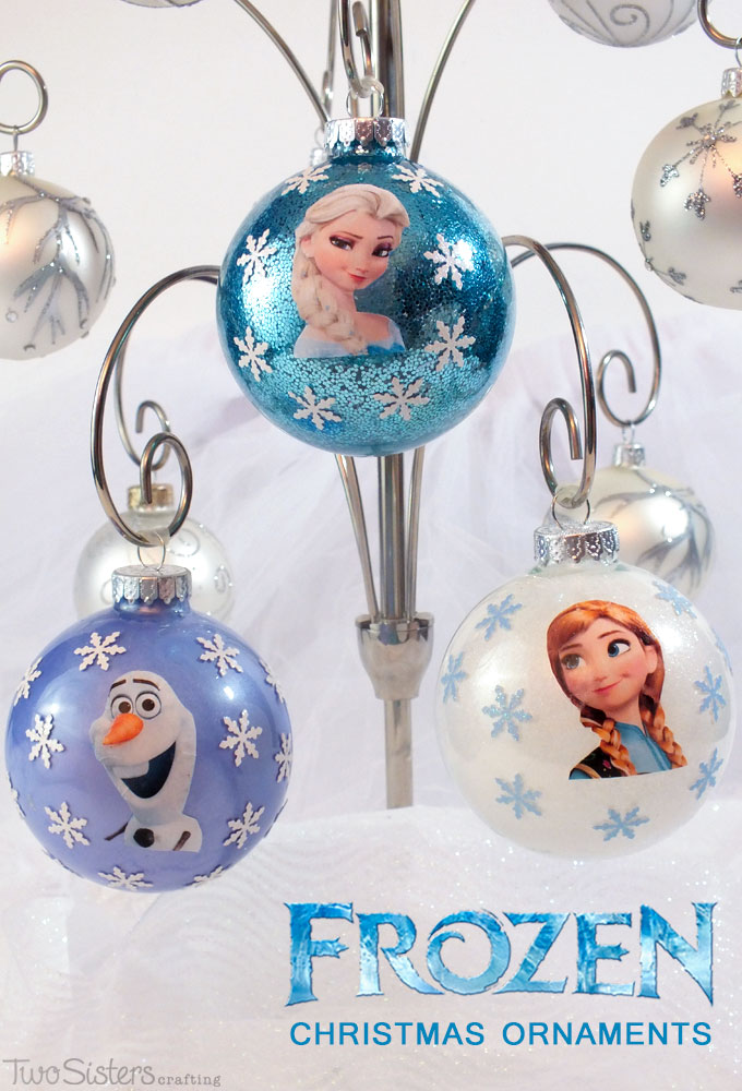 Diy frozen christmas ornaments two sisters crafting for How to make your own ornaments ideas