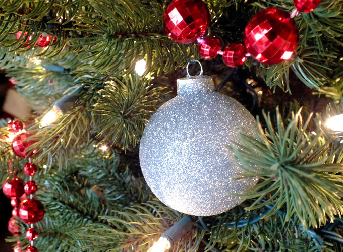 silver glitter christmas tree ornaments are a great christmas craft project these handmade christmas ornaments - Glitter Christmas Tree