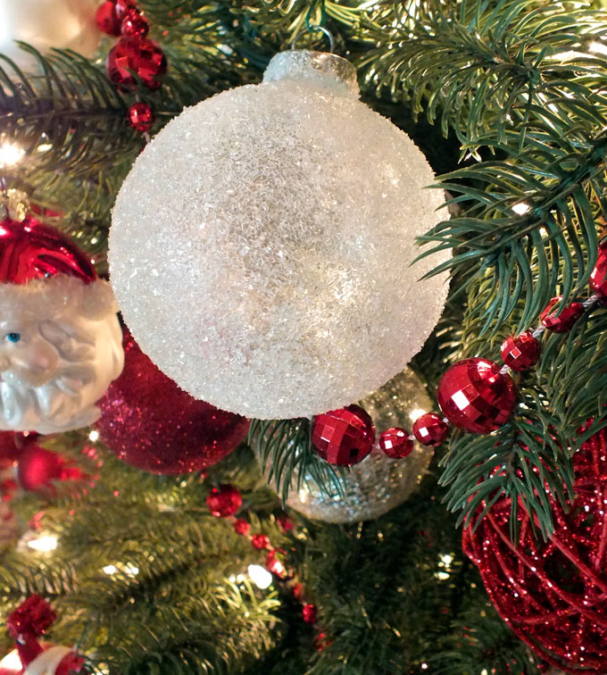 glitter snow christmas tree ornaments are beautiful and easy to make these christmas ornaments will - Glitter Christmas Tree