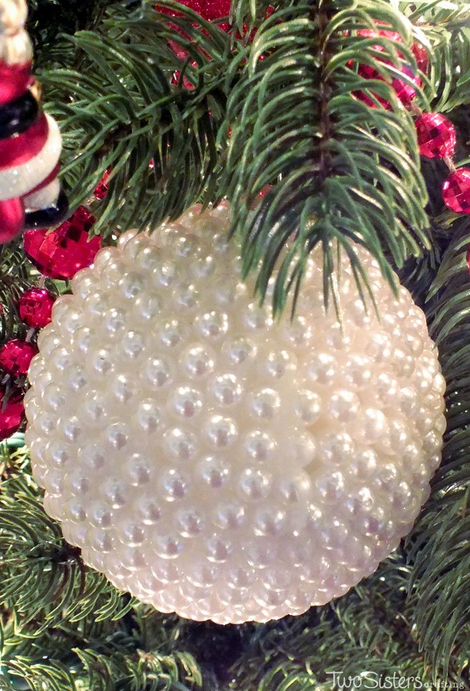 these pearl christmas tree ornaments are a fun craft that results in beautifully unique christmas ornaments