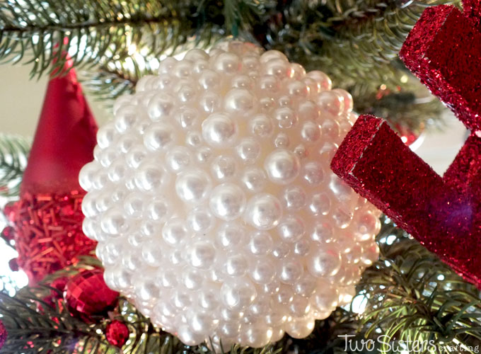 Pearl Christmas Tree Ornaments - Two Sisters Crafting