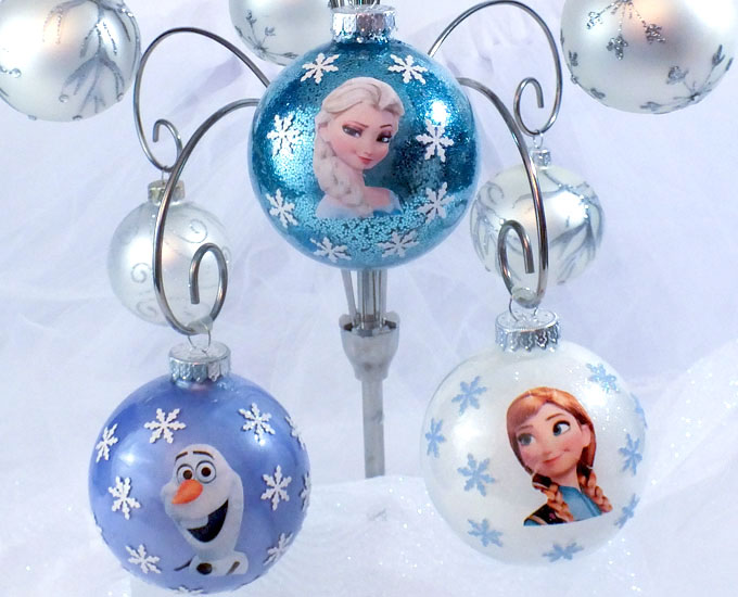 these adorable diy frozen christmas tree ornaments are super easy to make and that disney frozen