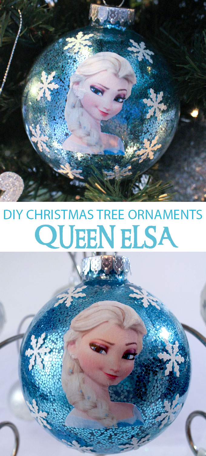 sparkly enough for a snow queen this diy queen elsa christmas tree ornament will be - Elsa Christmas Decoration