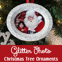 Glitter Photo Christmas Tree Ornamenst