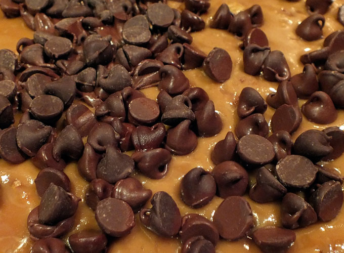 Melted chocolate chips