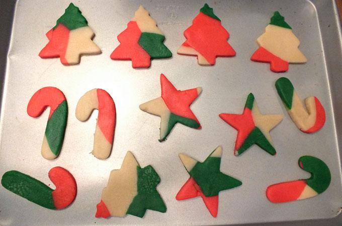 Marble Sugar Cookies on a cookie sheet