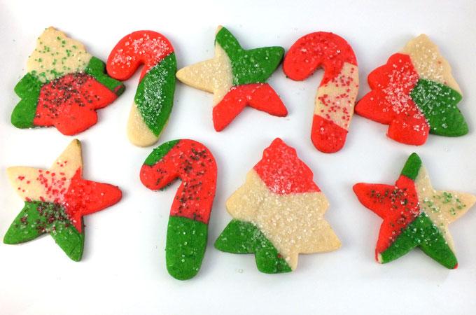 Add sugar sprinkles to the cookies