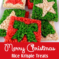 Merry Christmas Rice Krispie Treats