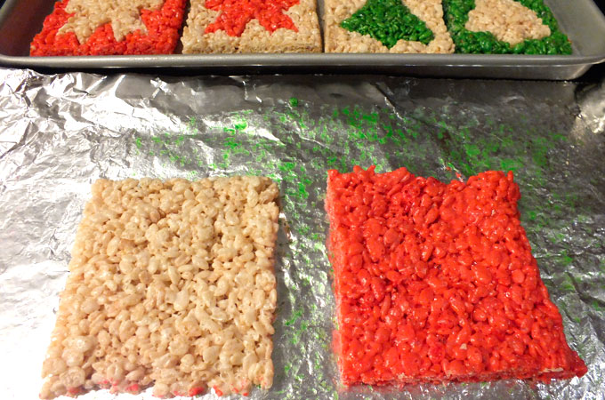 Merry Christmas Rice Krispie Treats squares