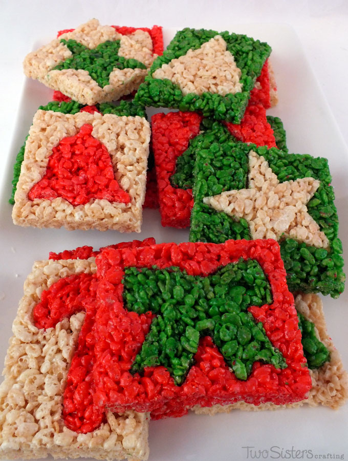 merry christmas rice krispie treats we used christmas cookie cutters to make these adorable and - Rice Krispie Christmas