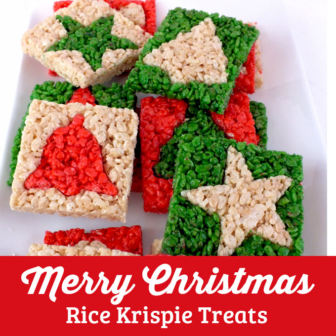 Merry Christmas Rice Krispie Treats Two Sisters Crafting